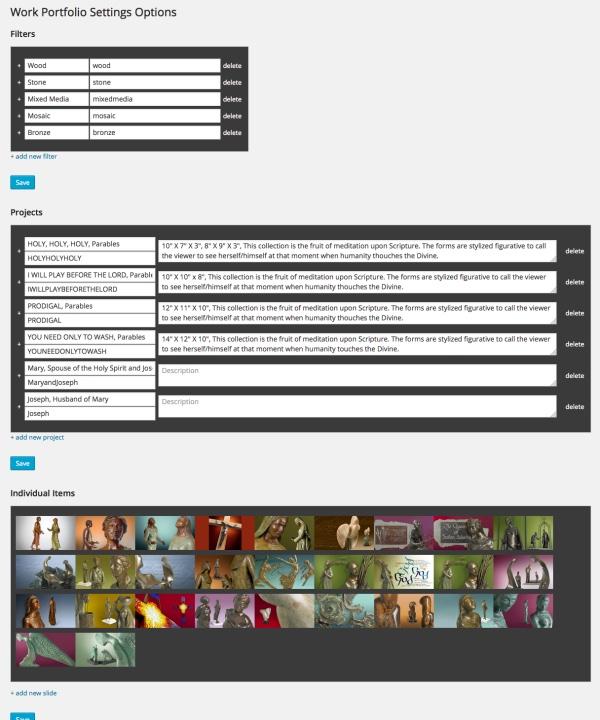 sistercor custom portfolio plugin